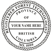 RFT_SI - Registered Forest Technologist Self-Inking Stamp