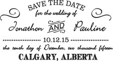 WEDDING0005 - Save The Date Stamp #2