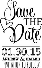 WEDDING0006 - Save The Date Stamp #3