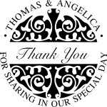 WEDDING0001 - Thank You Wedding Stamp #1