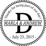 WEDDING0002 - Thank You Wedding Stamp #2